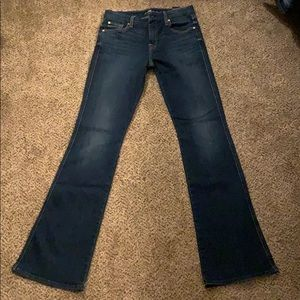 "7 for all mankind inseam 34"" sz 29 flare A pocket"